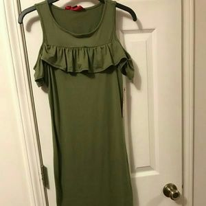 Hot Kiss Dresses & Skirts - NWT Sage Green Cold Shoulder Dress