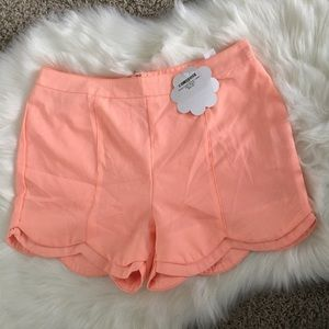 loveriche Pants - Sale🎉 NWT loveriche Neon Peach Scalloped Shorts