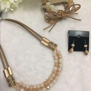 Lux Jewelry - NEWJewelry Bundle Suede Choker Bracelet & Earrings