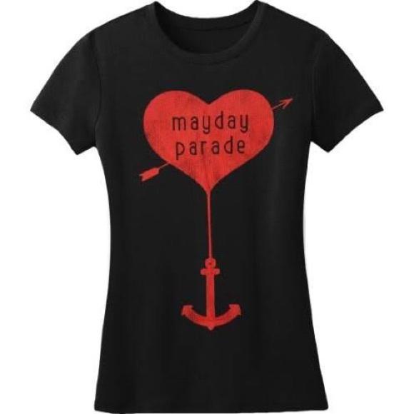 Hot Topic Tops Mayday Parade Logo Anchor Tee Poshmark