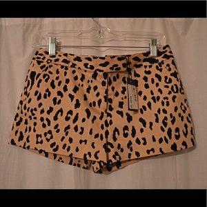 Tibi Pants - Tibi size 0 cheetah shorts