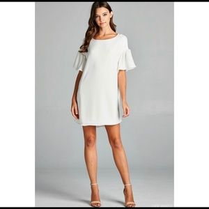 LAST ONE!! Ivory Bell Sleeve Shift Dress
