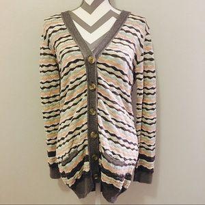 Missoni Sweaters - Missoni Pastel Striped Cardigan