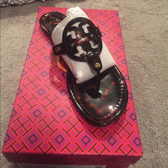 b4e83a1e3a9 Brand new Tory Burch Miller Tortoise Shell Sandal