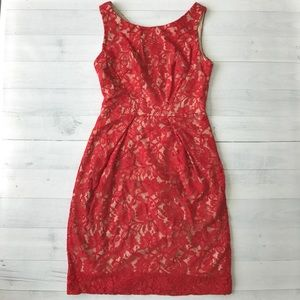 Donna Ricco Dresses & Skirts - Donna Ricco Red Lace Dress