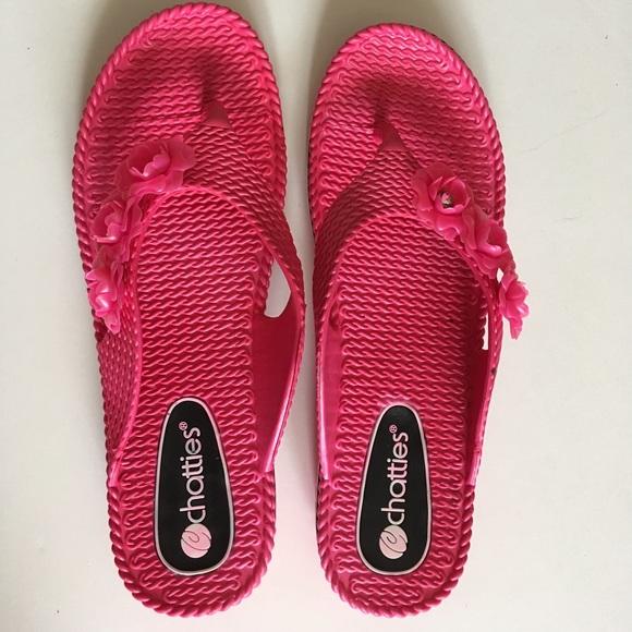 8d9203ea60f8c8 Chatties Shoes - Chatties pink flip flops!
