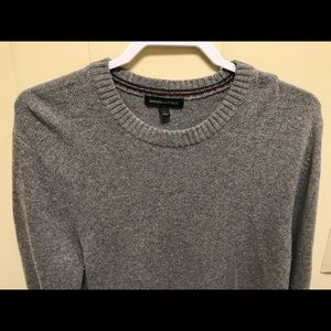 Mens Banana Republic Sweater Gray Large L 30% Wool