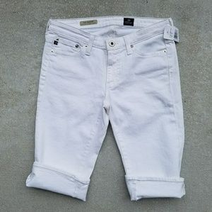 NWT AG Adriano Goldschmied White Denim Shorts
