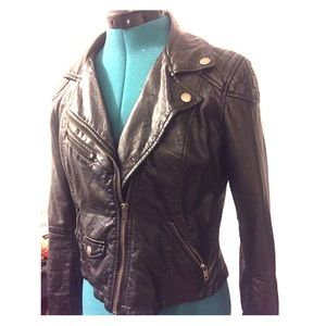 Faux leather jacket from h&m