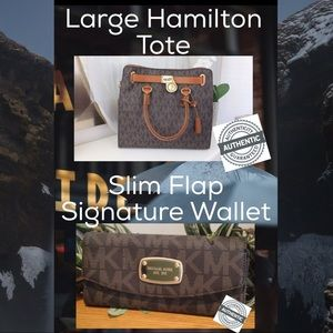 ✅BOGO LARGE SIGNATURE HAMILTON & Slim Flap WALLET