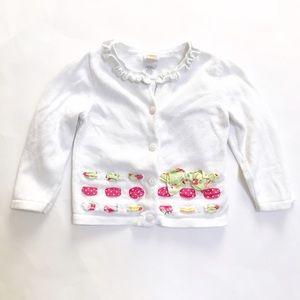 Gymboree Other - GYMBOREE [baby girl] White ribbon Cardigan Sweater