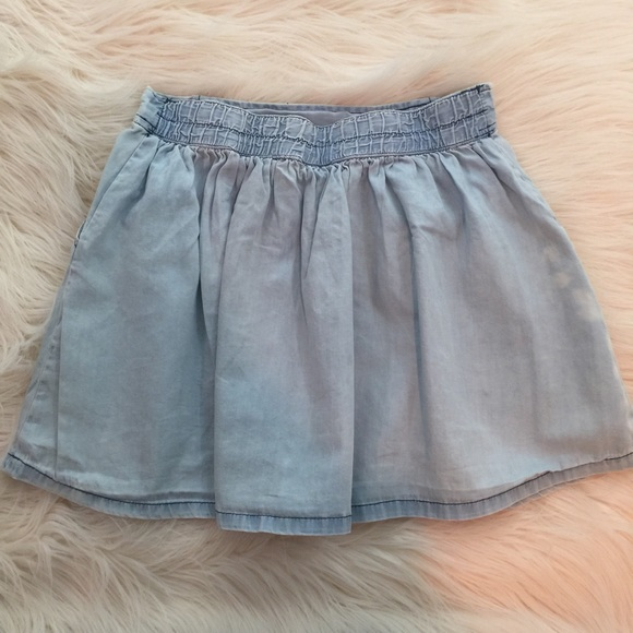8 light wash denim circle skater skirt 10 12