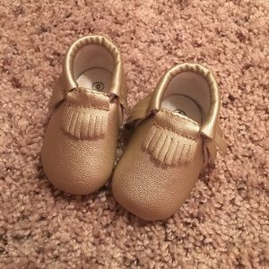 Freshly Picked Other - Gold sweet n swag moccasins size 0