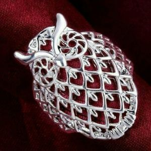 Jewelry - NWT 925 Sterling Silver Filigree Owl Ring