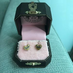 Juicy Couture Jewelry - Juicy Couture Heart Earrings