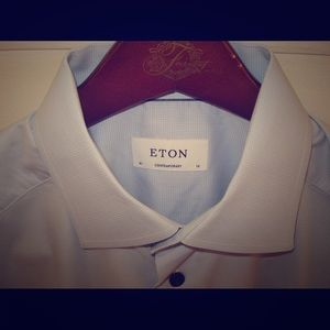 Eton Other - ETON Contemporary Fit Twill Navy Buttons 16 41