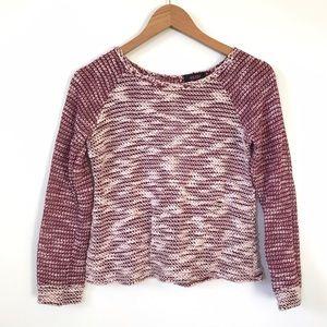 Krush Sweaters - Krush Purple Knit Open Back Sweater M D1
