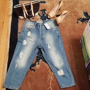 The Laundry Room Denim - The Laundry room ripped bf Jean sz 25 NWT