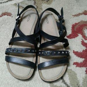 Ecco Shoes - Ecco Dagmar cross studded leather sandals