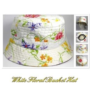 Floral Faux Alligator Bucket Hat