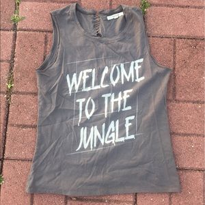 LF stores Tops - Welcome to the jungle LF grunge pin cross tank top
