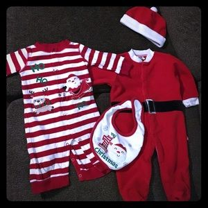 Baby Gear Other - Babys first christmas outfits santa baby!