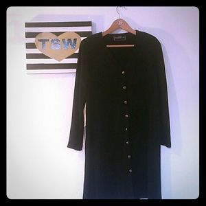 VINTAGE MOLLY MALLOY LONG BUTTON UP JACKET XL