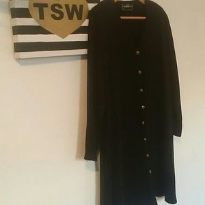 Molly Malloy Jackets & Coats - VINTAGE MOLLY MALLOY LONG BUTTON UP JACKET XL