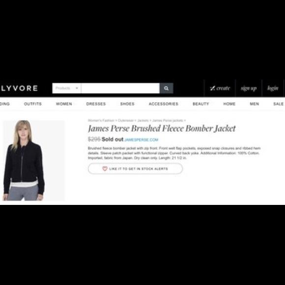 James Perse Jackets & Coats - James Perse Brushed Fleece Bomber