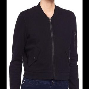 James Perse Brushed Fleece Bomber