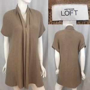 LOFT Sweaters - 🌳Sz Small LOFT No Close Tan Long Sweater Cardigan