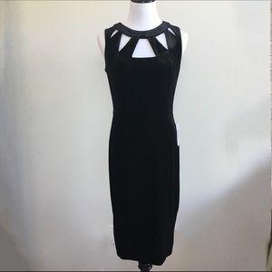 Eliza J Dresses & Skirts - Eliza J : Black velvet cutout sheath dress
