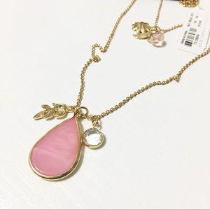 New York & Company Jewelry - NWT NY&Co Double Strand Pink Teardrop Necklace