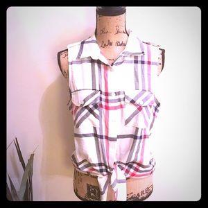 Stoosh Tops - NWT Macy's sleeveless plaid top