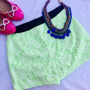 Pants - Beautiful Green color lace shorts