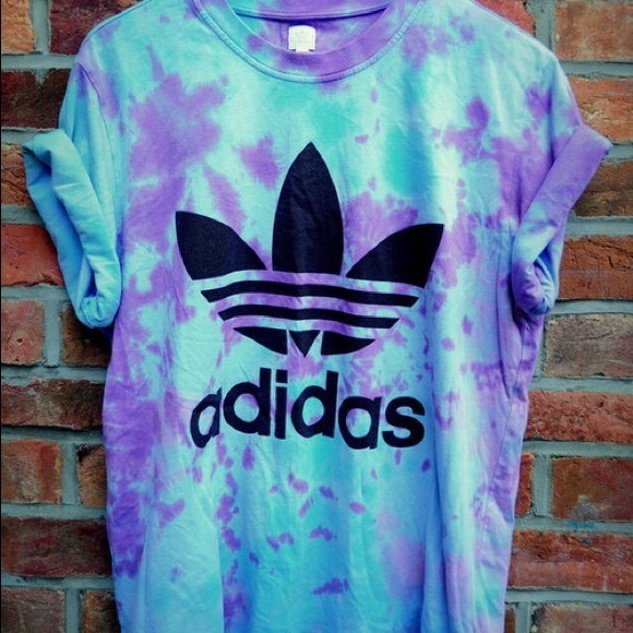 8 off adidas tops new adidas tie dye blue and purple