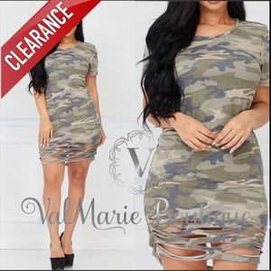 📍CLEARANCE 📍Camouflage Army Dress Tunic Top