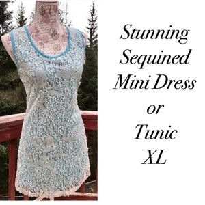 Lily Dresses & Skirts - 💐SALE🌻 Lily Brand Sequined Tunic Tank XL