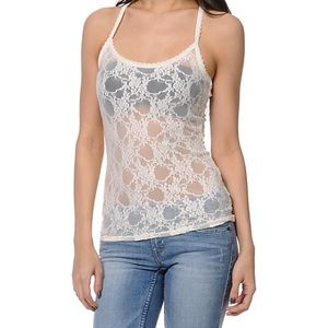 mandee Tops - White Lace Tank Top🌥