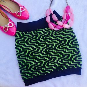 Dresses & Skirts - Green and blue mini skirt