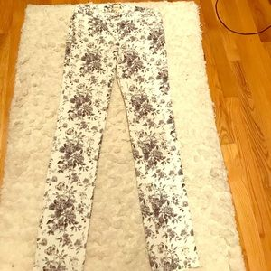 G.H. Bass and Co. Pants - Floral Skinny Jeans