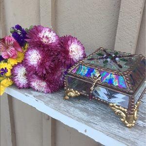 Jewelry - Stained Glass Jewelry Box with Precious Gems 🌈✨