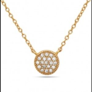 Jewelry - Athena Designs NWT Gold circle /crystal pave