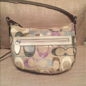 Coach Handbags - Coach Small Canvas Crossbody Purse