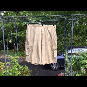 Old Skool Other - Old Skool Men's Tan Khaki Cargo Shorts size 50