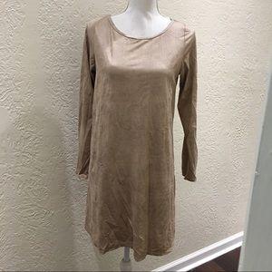 Adrienne Dresses & Skirts - Adrienne brown long sleeve dress size medium