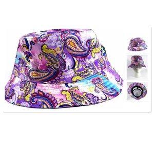 Purple Paisley Bucket Hat