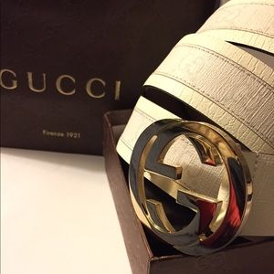 Gucci Other - NWT Gucci White Monogram Belt