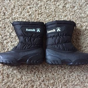 Kamik Other - KAMIK Kids Size 9 Black Snow Boots Outside