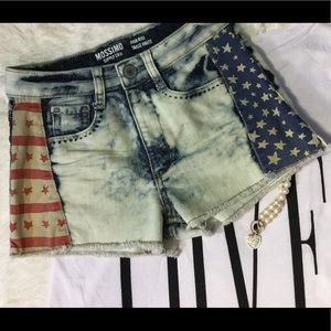 Mossimo Supply Co Pants - Denim short shorts denim distressed American stars